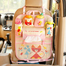 Washable Portable Cute Cartoon Car Seat Back Hanging Storage Organiser Tidy Bags