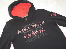SOCCX LA Shirt schwarz Gr. L 40 NEU T-Shirt NORTHERN SEA Kapuze * Sweat