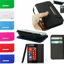 CUSTODIA FLIP COVER a LIBRO ULTRA SLIM IN ECO PELLE PER NOKIA LUMIA 520 N520