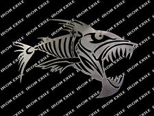 Fish Skeleton Skull Metal Art Garage Piranha Hot Rat Rod Motorcycle Punk
