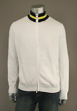Ralph Lauren Polo White Cotton Cardigan Tennis Sweater L New $225