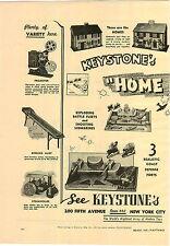 1941 PAPER AD 2 PG Keystone Toys Steam Roller Tug Boat Submarine Battle Fleet