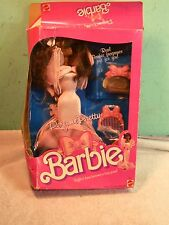 Vintage Ruffled dress becomes a long gown Barbie 4552 Perfume Pretty 1987