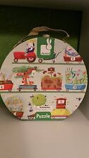 Janod Hat Box Giant Numbers Jigsaw Puzzle 12-Piece - Tractor