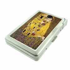 Gustav Klimt The Kiss D 250 Cigarette Case Built in Lighter Metal Wallet