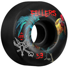 "New Set of BONES STF Fellers ""Roost"" V2 Skateboard Wheels (Black): 53mm / 83B"