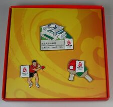 2008 Beijing Olympic  Exclusive Pin Set Table Tennis