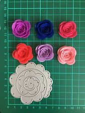 "2.75"" Quilling Roll Up Flower Cutting Die For Sizzix Spellbinders Ect.Machine"
