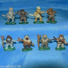 STAR WARS Micro Machines EWOKS 8 Mini Figures LOT Chirpa PAPLOO Logray TEEBO