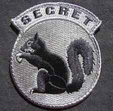 TOP SECRET SQUIRREL BLACK OPS TACTICAL ACU DARK VELCRO® BRAND FASTENER  PATCH
