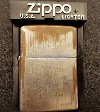 Zippo 1973 Vintage Retro Lighter Collectible Heavy Use w/Case
