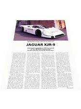 1988 Jaguar XJR-9 Race Car - Profile - Original Car Review Print Article J398