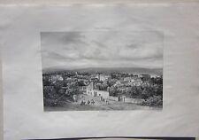 1838 VICHY vue litografia Edmond Tudot Deroy Achille Allier Desrosiers Auvergne