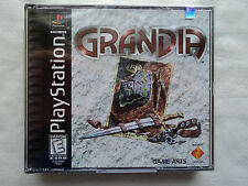 Grandia PlayStation 1 PS1 NEW SEALED Black Label Y-Fold