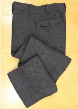 WOOLRICH Vtg Charcoal Herringbone Hunting Pants 36x32 Wool Blend EXCELLENT USA