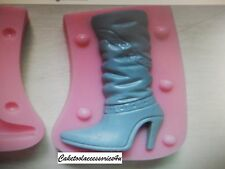 3D Ladies Boots Shoe Silicone Mould Cup Cake Toppers Sugarcraft Icing Fimo Ice