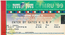 Australia v South Africa - semi-final 30 Oct 1999 RUGBY WORLD CUP TICKET
