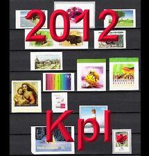 Alle SELBSTKLEBEND aus 2012 ** komplett Bund POSTFRISCH, SK, SKL, MH, Rolle