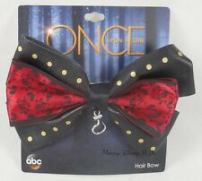 New Disney Once Upon A Time Captain Hook Cosplay Hair Bow Pin Clip Barette