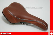 VELO City Cycling Comfort MTB Trekking Cruiser Bike Seat Saddle - Brown