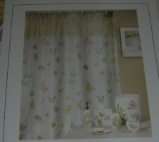 """Creative Products Shower Curtain Off White Fabric Madame Butterfly Multi 72""""X72"""""""