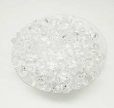 100Pcs 8mm Clear Rondelle Acrylic Spacer Loose Beads Jewelry Findings Free Ship