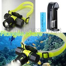 6000Lm Headlight T6 LED Waterproof Zoomable Diving Headlamp Torch 18650