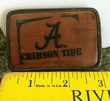 Alabama Crimson Tide Metal / Leather Belt Buckle NEW BEAUTIFUL DETAIL Free Ship