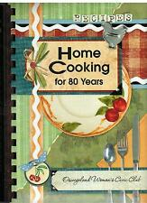 *OSWEGO IL 2008 OSWEGOLAND WOMAN'S CIVIC CLUB COOK BOOK *HOME COOKING FOR 80 YRS