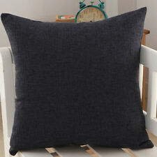 "18"" Modern Simple Solid Pillow Case Linen Office Home Sofa Decor Cushion Cover"
