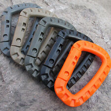 5X Plastic Carabiner D-Ring Key Chain Clip Hook Outdoor Camping Buckle Snap EDC