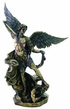 "10"" St Saint Michael Archangel Statue Figurine Patron of Police Soldiers 3111"