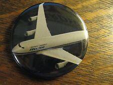 Pan Am Pocket Mirror - Repurposed Pan American Airlines 747 Magazine Ad Mirror