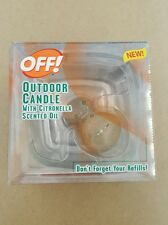 Off Outdoor Candle With Citronella Scented Oil - OFF!