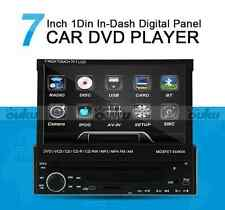 """7"""" Single 1 Din Car CD DVD Player In Dash Stereo LCD Touch Screen Blutooth Radio"""