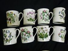 NEW Portmeirion Botanic Garden 25th Anniversary  Mugs Set of 8