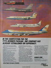 2/1989 PUB ALLIED SIGNAL BENDIX KING TTTS AIR FORCE ONE F-16 ANGOSTA PC-9  AD