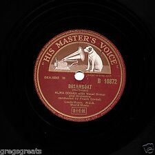 "UK  No.1 MAY 1955 ALMA COGAN 78  "" DREAMBOAT / IRISH MAMBO ""  HMV B 10872 EX-"