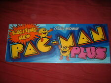 PAC MAN PLUS-Midway TOP HEADER/MARQUEE-L@@K!