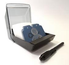 Rolodex pequeño fichero sistema de archivos con 250 tarjetas y un bolígrafo Invisible UV! *