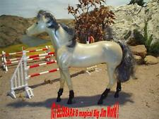 Big Jim Pferd - DALLAS - Schimmel - Gelenkpferd ! Barbie Horse - Mattel + OVP