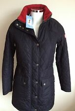 Women's Barbour Kirkby Diamond Quilted Coat, Navy, UK Size 8 *NEW* RRP £199
