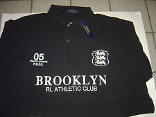 "BIG MENS RALPH LAUREN BLACK ""BROOKLYN ATHLETIC CLUB"" S/S POLO SHIRT SIZE 5X"
