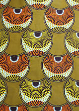 African Wax Print Super Quality Cotton Fabric 4 Crafts & Dresses Sold Per Yard