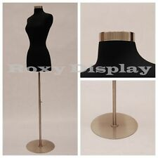 Size 2-4 Female Mannequin Dress Form+Metal Round Base #JF-FWPB-4 + BS-04