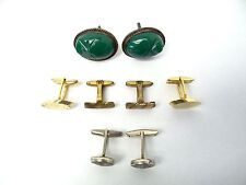 Lot of Vintage Used Metal Silverplate Woolno Suit Cuff Links Men's Jewelry Old