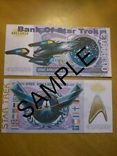 Star Trek 1 millones de euros billete de banco millonario billete de empresa