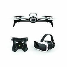 Parrot Bebop 2 Camera Drone - White with Skycontroller 2 and FPV Cockpit Glasses
