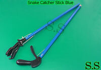 "52"" Snake Catcher Stick Blue Color - Rattlesnake Catcher & Grabber"