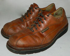 MEPHISTO Mens Sz. 10 OXFORD SHOES Casual Dress LEATHER Cognac Brown COMFORT    A